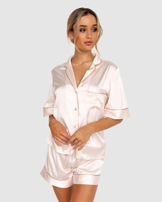 Modern Romantique - Women's Neutrals Pyjamas - Aubrey Pyjama Set - Size One Size, XS at The Iconic