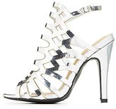 Charlotte Russe Wide Width Laser Cut Dress Sandals