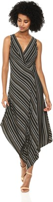BCBGMAXAZRIA Azria Women's Sleeveless Asymmetrical Faux-Wrap Dress