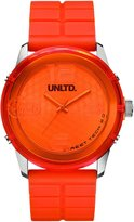 Ecko Unlimited Men's Quartz Watch with Orange Dial Analogue Display and Orange Silicone Strap E11539G2