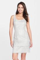 Alex Evenings Tiered Lace Sheath Dress (Petite)