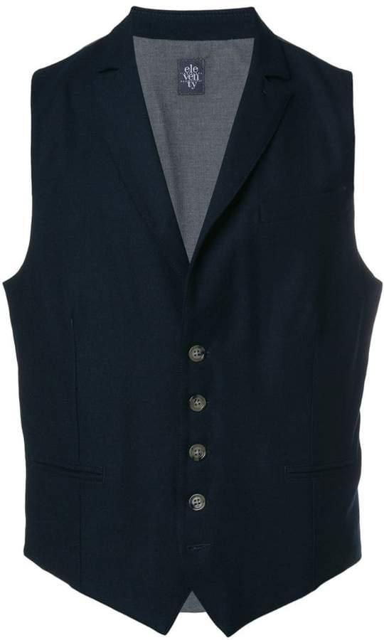 Eleventy two-tone buttoned waistcoat