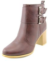 Journee Collection Port Women Round Toe Synthetic Brown Mid Calf Boot.