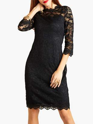 Yumi Lace Bodycon Dress, Black