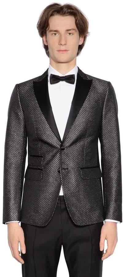 DSQUARED2 London Lurex Jacquard Tuxedo Jacket