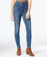 Free People Cyndi High-Rise Dark Blue Wash Skinny Jeans