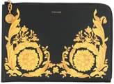 Versace Baroque print clutch bag