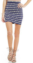 Billabong Their Way Geo-Printed Knit Pencil Skirt
