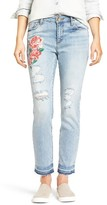 KUT from the Kloth Petite Women's Embroidered Straight Leg Jeans