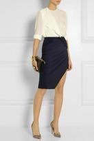 Altuzarra Wrap-effect stretch-jersey crepe skirt