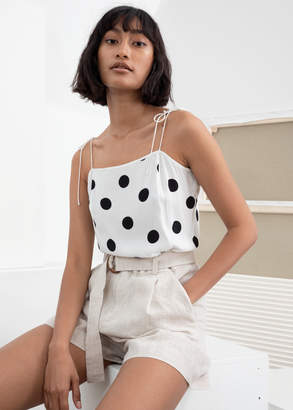And other stories Square Neck Tie Shoulder Tank Top