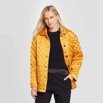 Who What Wear Women's Long Sleeve Quilted Satin Jacket - Who What WearTM