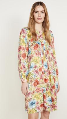 ALEXACHUNG Floral Batwing Dress