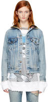 R 13 Blue Levis Edition Refurbished Denim Kurt Trucker Jacket