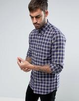 Barbour Warren Shirt Highland Check Buttondown Tailored Slim Fit In Navy