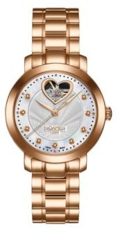 Roamer of Switzerland Ladies Rose Goldtone Stainless Steel Bracelet Watch 34mm