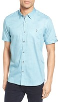 Ted Baker Men's Lorenze Extra Slim Fit Mini Print Sport Shirt