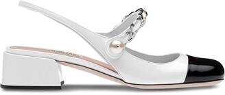 Miu Miu Slingback Ballerina Pumps