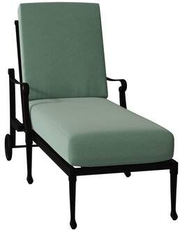 Caruso Woodard Wiltshire Adjustable Chaise Lounge Woodard Cushion Color Seaglass, Frame Color: Textured Black