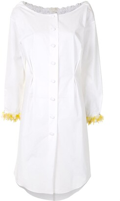 DELPOZO Embellished-Cuff Shirt Dress