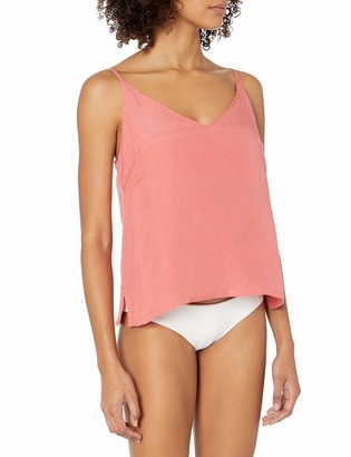 Seafolly Women's Linen Blend Cami Tank Swimsuit Cover Up Top