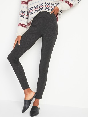 Old Navy High-Waisted Stevie Metallic Ponte-Knit Pants for Women