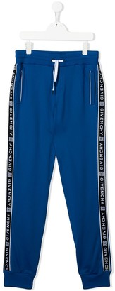 Givenchy Kids TEEN 4G logo stripe track trousers