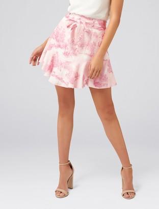 Ever New Tina Linen-Blend Flippy Skirt