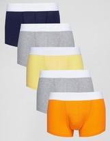 Asos Hipsters In Yellow And Orange 5 Pack Save