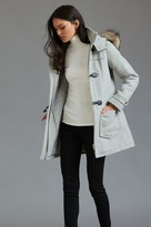 Dynamite Wool Toggle Coat with Faux Leather