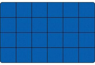 "Kid Carpet Blocks Seating Tufted Blue/Black Rug Rug Size: Rectangle 7'6"" x 12'"