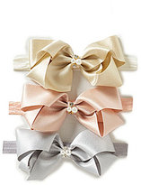 Starting Out Baby Girls 3-Pack Elastic Bows