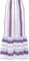 Lemlem Adia Convertible Striped Cotton-blend Gauze Skirt - Violet