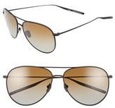 Salt Men's 'Francisco' 59Mm Gradient Sunglasses - Black Sand/ Brown