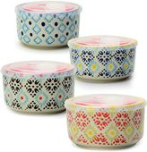 Signature Housewares Printed Microwave Storage Bowls (Set of 4)