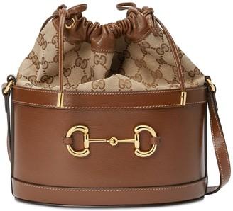 Gucci 1955 Horsebit Leather & Original Gg Bag