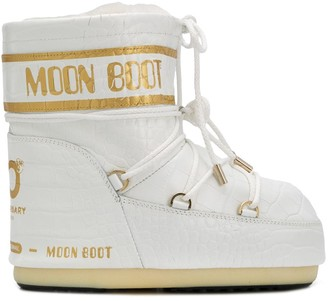 Moon Boot Croc Effect Snow Boots