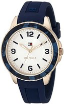 Tommy Hilfiger Women's 1781539 Everyday Sport Rose Gold-Tone Watch with Blue Band