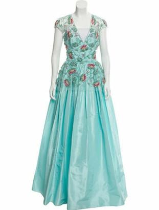 Naeem Khan 2018 Silk Gown blue