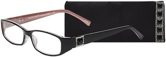 Select A Vision Select-A-Vision Women's Victoria Klein Crystals 9092 Demi Rectangular Reading Glasses 27 mm + 2.75