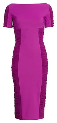Chiara Boni Dary Illusion Sheath Dress
