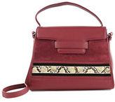 Sam Edelman Terri Leather and Suede Top Handle Bag