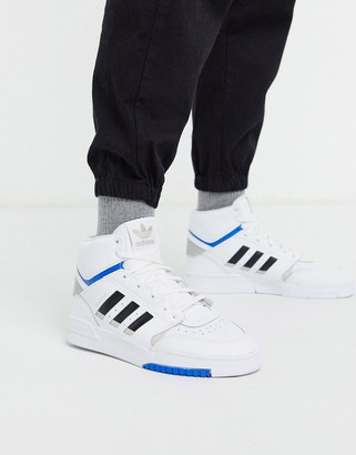 adidas drop step hi top trainers in white