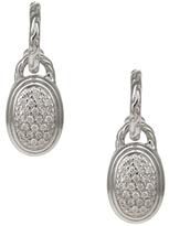 John Hardy Classic Chain Pave Diamond Oval Drop Earrings