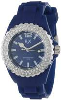 Haurex H2X Women's SS382DB1 Reef Stones Luminous Water Resistant Blue Soft Rubber Watch