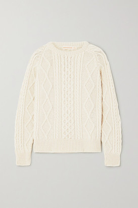 &Daughter Doris Cable-knit Wool Sweater - Cream