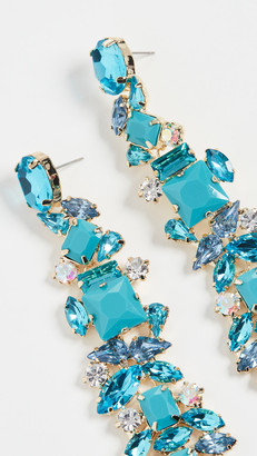 Stella + Ruby Turquoise Crystal Earrings