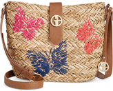 Giani Bernini Butterfly Straw Crossbody, Only at Macy's