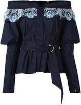 Peter Pilotto off-the-shoulder belted blouse
