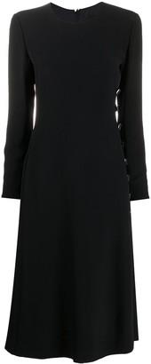 Giorgio Armani Side-Button Belted Dress